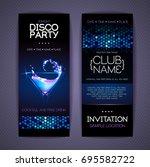 disco corporate identity... | Shutterstock .eps vector #695582722