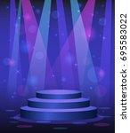 stage podium disco nightclub...   Shutterstock .eps vector #695583022