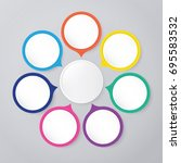 circle infographic template... | Shutterstock .eps vector #695583532