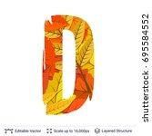 autumn fall bright orange... | Shutterstock .eps vector #695584552