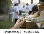 food buffet catering dining... | Shutterstock . vector #695589532