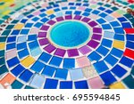 colorful mosaic flooring. | Shutterstock . vector #695594845