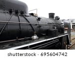 steam locomotive in umekoji... | Shutterstock . vector #695604742