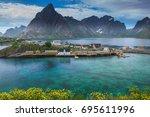 moskenes lofoten norway | Shutterstock . vector #695611996