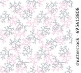 coral seamless pattern | Shutterstock .eps vector #695613808