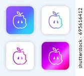apple bright purple and blue...