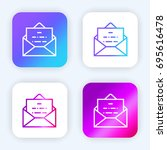 envelope bright purple and blue ... | Shutterstock .eps vector #695616478