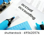 Small photo of Accrual accounting document on a table.