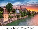 basel. cityscape image of basel ...   Shutterstock . vector #695621362