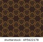 ornamental seamless pattern....   Shutterstock .eps vector #695622178