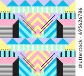 seamless geometric pattern in... | Shutterstock .eps vector #695626786