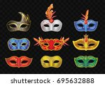 carnival mask   realistic...   Shutterstock .eps vector #695632888