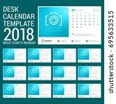 desk calendar for 2018 year.... | Shutterstock .eps vector #695633515