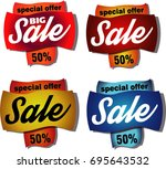 sale set cartoon | Shutterstock .eps vector #695643532