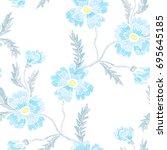 elegant seamless pattern with... | Shutterstock .eps vector #695645185