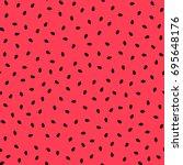 watermelon seamless pattern ... | Shutterstock .eps vector #695648176