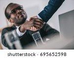 african american businessmen... | Shutterstock . vector #695652598