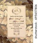 vintage baroque style wedding... | Shutterstock . vector #695657806