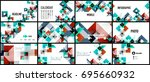 business presentation geometric ... | Shutterstock .eps vector #695660932