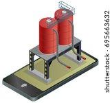 gasoline cistern  isometric... | Shutterstock .eps vector #695663632