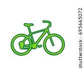 bicycle  bike sign. vector.... | Shutterstock .eps vector #695665072