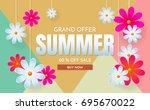 summer sale template banner... | Shutterstock .eps vector #695670022