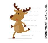 Cute Reindeer Character Is...