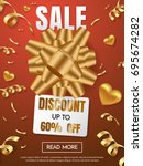 gift box sale template banner... | Shutterstock .eps vector #695674282