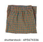 a pair of boxer shorts ... | Shutterstock . vector #695674336