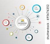 net  molecule structure with... | Shutterstock .eps vector #695676352