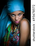 african black young woman... | Shutterstock . vector #695678572