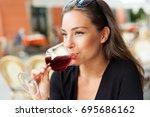 outdoors portrait of a... | Shutterstock . vector #695686162