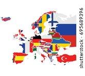 europe map vector | Shutterstock .eps vector #695689396