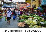 Small photo of Manila, Philippines - Apr 12, 2017. People at street market in Manila, Philippines. Manila is the capital of Philippines and the most densely populated city proper in the world.