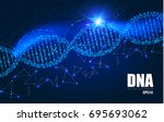 human dna molecule background.... | Shutterstock .eps vector #695693062