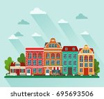 vector illustration of european ... | Shutterstock .eps vector #695693506