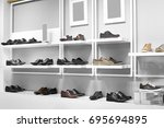 bright and fashionable interior ... | Shutterstock . vector #695694895