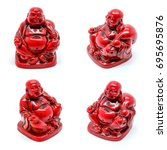 Set Of Statuettes Of Red...