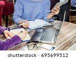 start up ideas innovation... | Shutterstock . vector #695699512