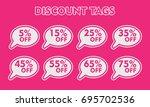 special offer sticker set. pink ... | Shutterstock .eps vector #695702536