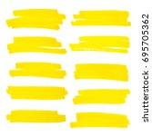 vector highlighter brush lines. ... | Shutterstock .eps vector #695705362