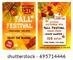 autumn music festival or... | Shutterstock .eps vector #695714446