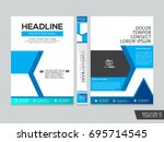 brochure design template vector.... | Shutterstock .eps vector #695714545