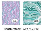 cover layouts collection with... | Shutterstock .eps vector #695719642