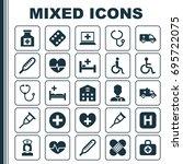 antibiotic icons set....   Shutterstock .eps vector #695722075