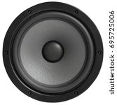 black studio monitor speaker ... | Shutterstock . vector #695725006