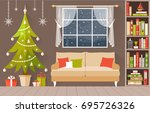 new year s interior vector. a... | Shutterstock .eps vector #695726326