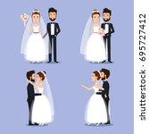 Bride And Groom Set Wedding...