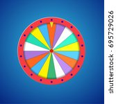 wheel of fortune isolated | Shutterstock .eps vector #695729026