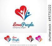 love people logo template... | Shutterstock .eps vector #695731222
